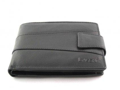Pánská peněženka Lagen hladká s přezkou - černá