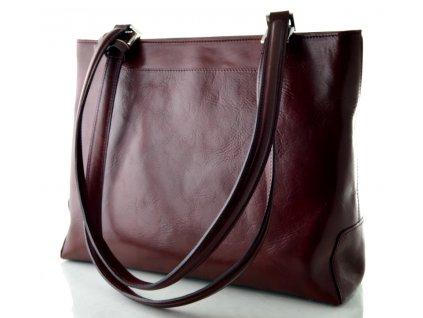 Elegantní kožená kabelka Silvercase - rubínová