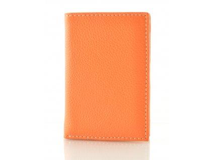 Malá barevná dokladovka - oranžová