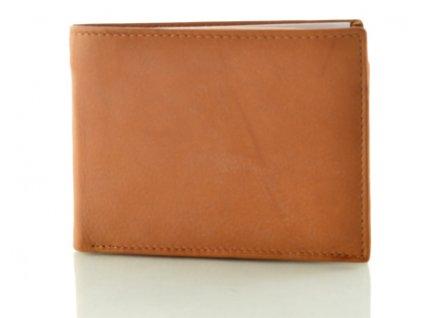 Menší světle hnědá pánská kožená peněženka