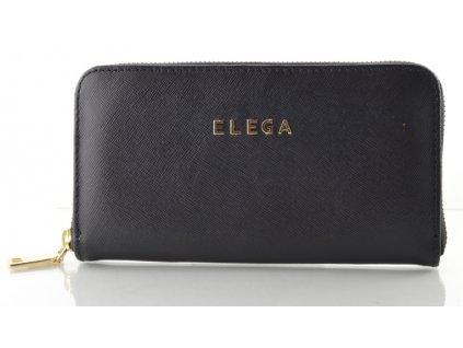 Kožená peněženka ELEGA - černá