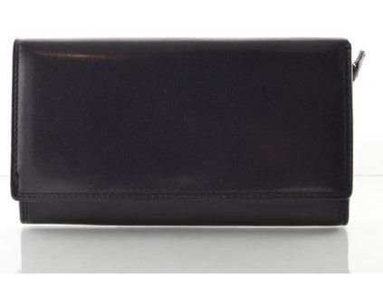 Kožená dámská peněženka  - černá
