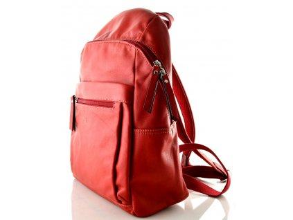 Červený kožený batoh Katana