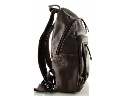 Hnědý kožený batoh Katana