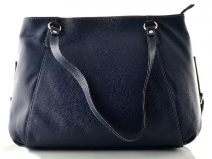 Kožená kabelka Katana - tmavě modrá