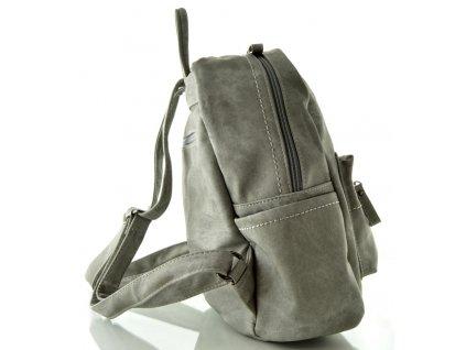Koženkový batoh šedý