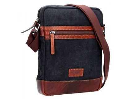 Koženo-textilní taška přes rameno