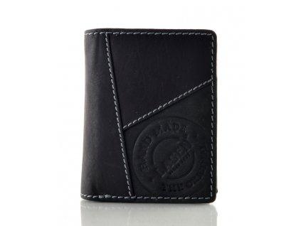 Moderní kožená peněženka na výšku