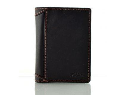 Moderní kožená peněženka na výšku - hnědá