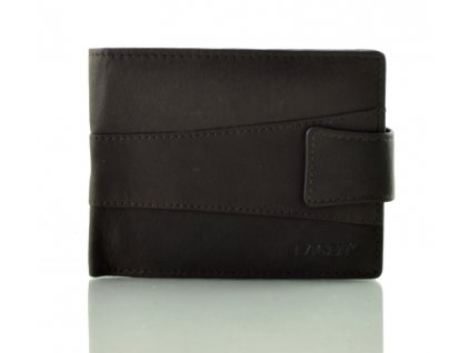Pánská peněženka Lagen hladká s přezkou - hnědá