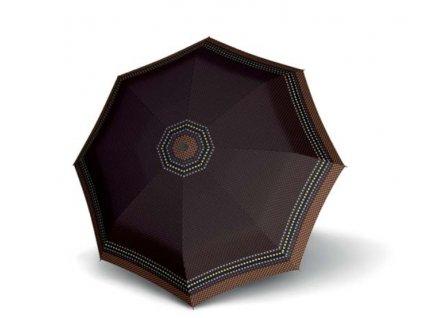 Deštník mini slim Rolo - hnědý puntík