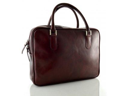 Dámská manažerská taška na notebook - rubín