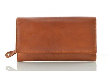 Kožená dámská peněženka Arwel - koňaková