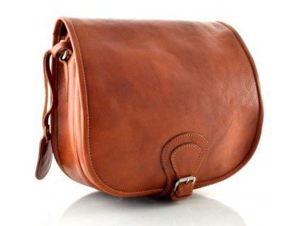 Klopnová lovecká kožená taška Silvercase - rezavě hnědá