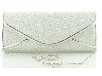 Pevné koženkové psaníčko - stříbrné