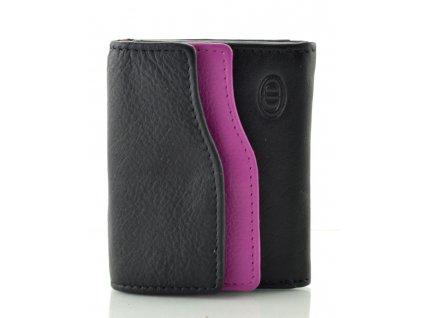Kožená peněženka DD - fialovočerná