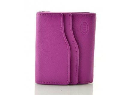 Kožená peněženka DD - fialová