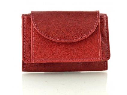 Mini kožená peněženka DD - vínová