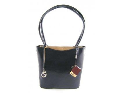 Vysoká kožená kabelka Silvercase - modrá