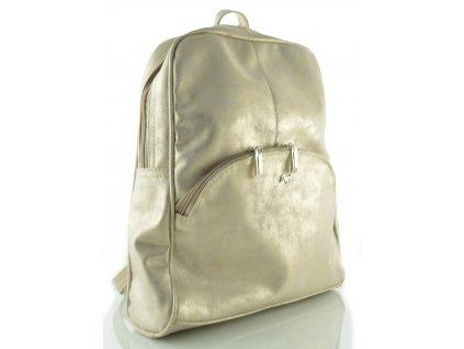 Koženkový batoh Dapi Dubay - zlatý