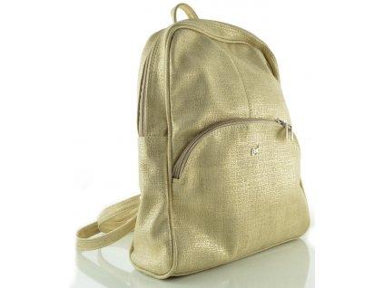 Koženkový batoh Dapi Miláno - zlatý