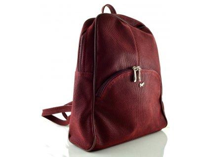 Koženkový batoh Dapi Tango - bordo