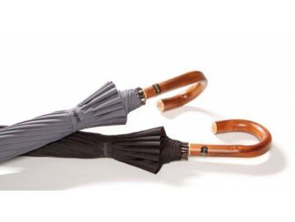 Luxusní pánksý holový deštník Doorman Bugatti - černý