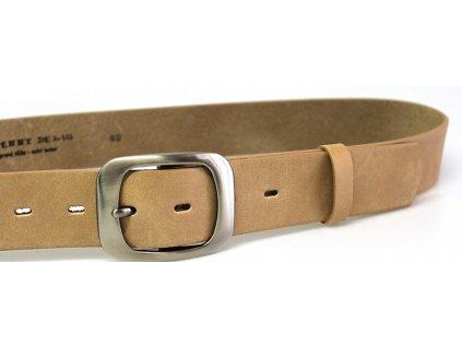 Béžový kožený dámský opasek - Penny Belts