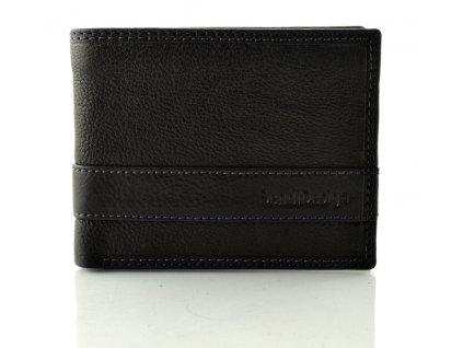 Černá kožená peněženka SendiDesign