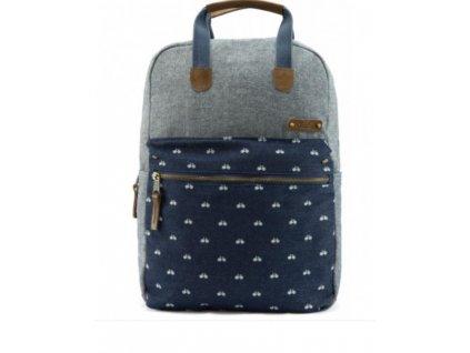 Textilní batoh G.ride France - šedo modrý