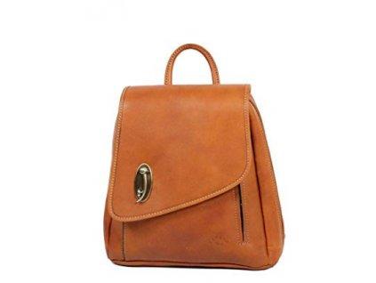 Luxusní kožený batoh Katana- hnědorezavý
