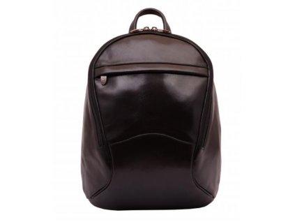 Dámský kožený batoh Hajn - černý