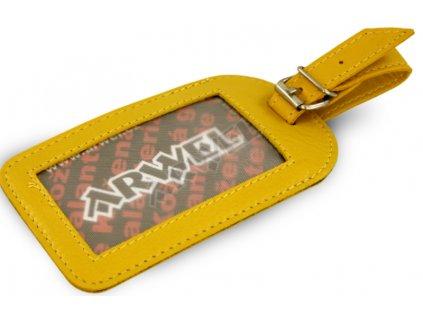 Jmenovka na cestovní zavazadlo - žlutá