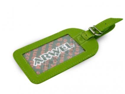 Jmenovka na cestovní zavazadlo - zelená