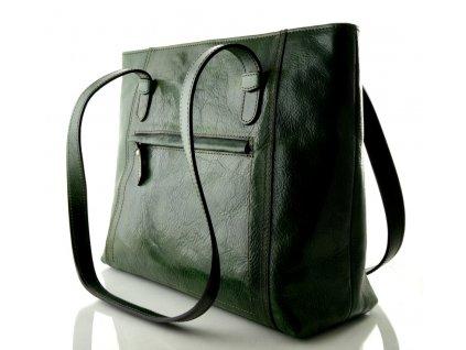Nadčasová kožená kabelka Silvercase - zelená
