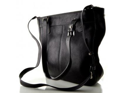 Měkká kožená kabelka Silvercase - tmavě modrá