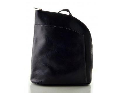 Kožený batůžek Silvercase - tmavě modrá