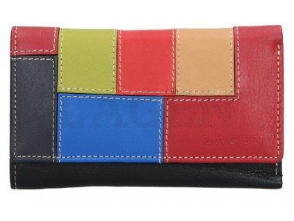 Barevná kožená peněženka Lagen