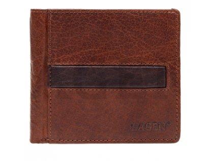 Hnědá pánská kožená peněženka Lagen