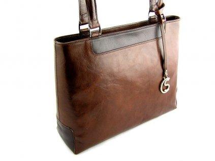 Elegantní kožená kabelka Silvercase - hnědá