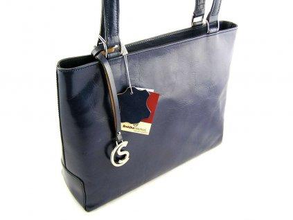 Elegantní kožená kabelka Silvercase - tmavě modrá