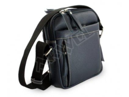 Crossbody-kožená taška Arwel-  modrá