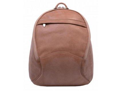 Dámský kožený batoh Hajn - světle hnědý rustik