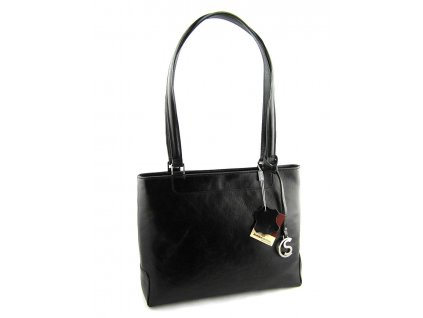Elegantní kožená kabelka Silvercase - černá