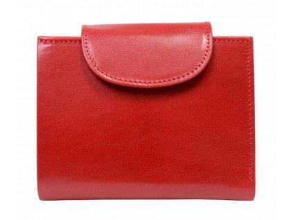 Červená kožená peněženka Hajn