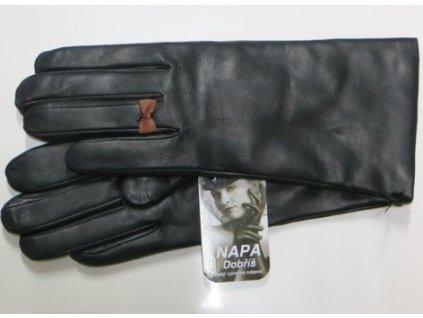 Kožené dámské rukavice Napa  - černé