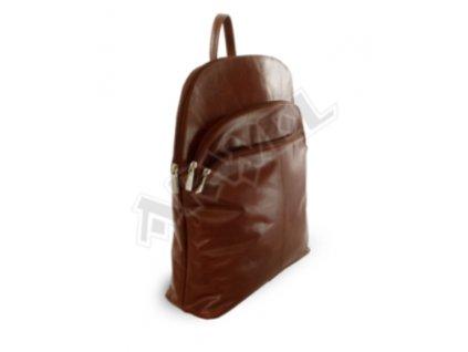 Kožený batoh Arwel - hnědý