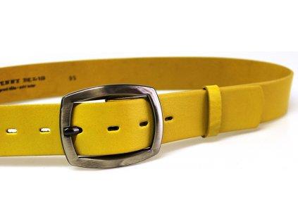 Žlutý kožený dámský opasek - Penny Belts