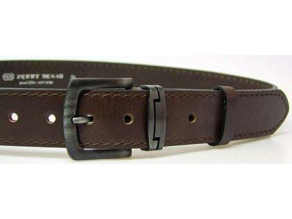 Nadměrný hnědý kožený opasek - Penny Belts