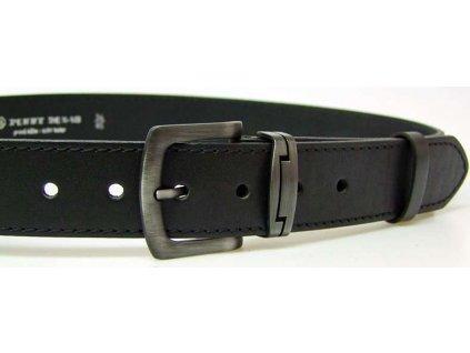 Nadměrný černý kožený opasek - Penny Belts